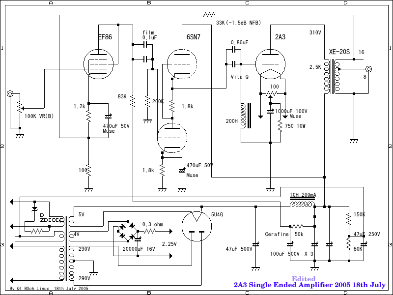 Schematic 2a3 Se The Wiring Diagram on guitar wiring diagrams