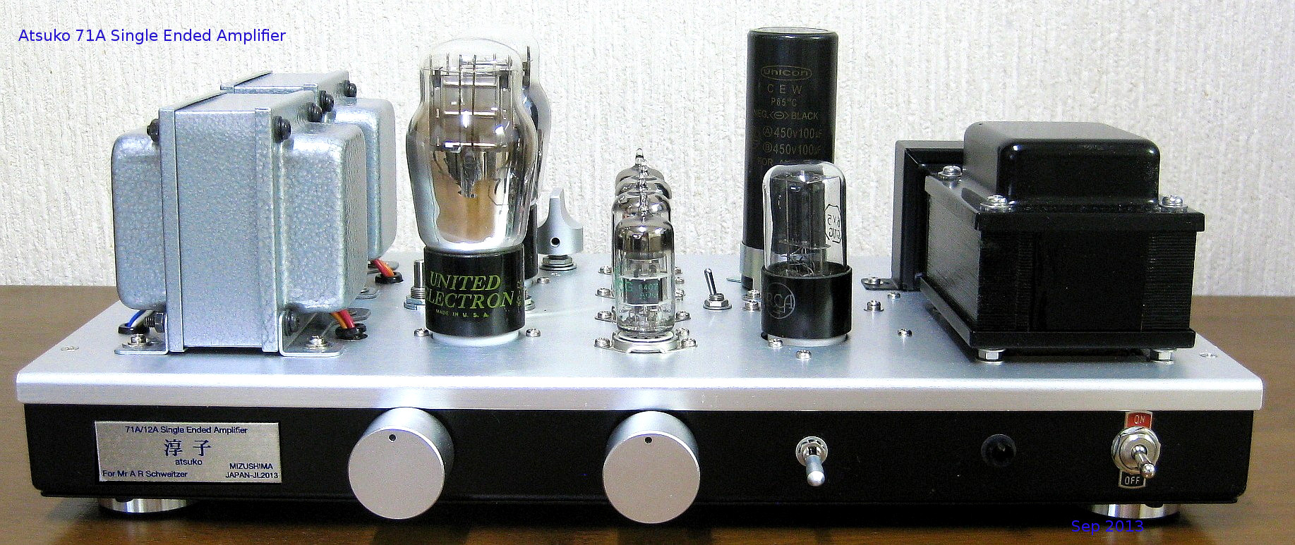 71A Single Ended Amplifier