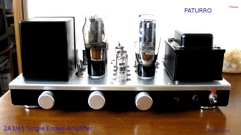 Paturro 2A3/45 Single Ended Amplifier 2014