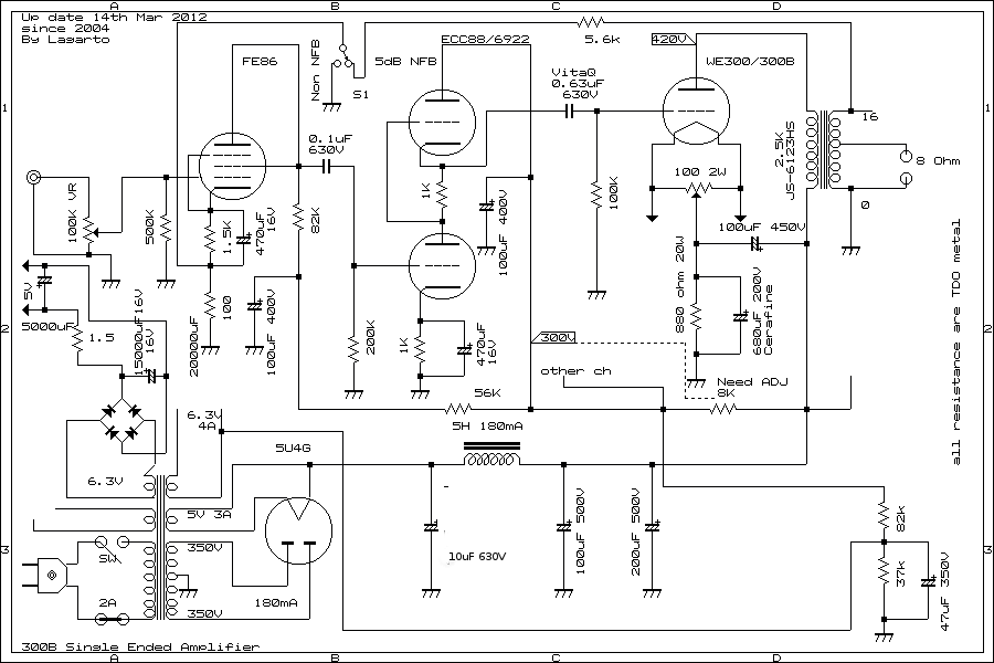 149272 Asking About 6sn7 2a3 Tubes further The Many Ideas Of 100 Watt  lifier Circuit further Altec furthermore 174338 69 Sfpr Schematic Whats Up moreover Build 20w Guitar   Diy. on sound amplifier circuit