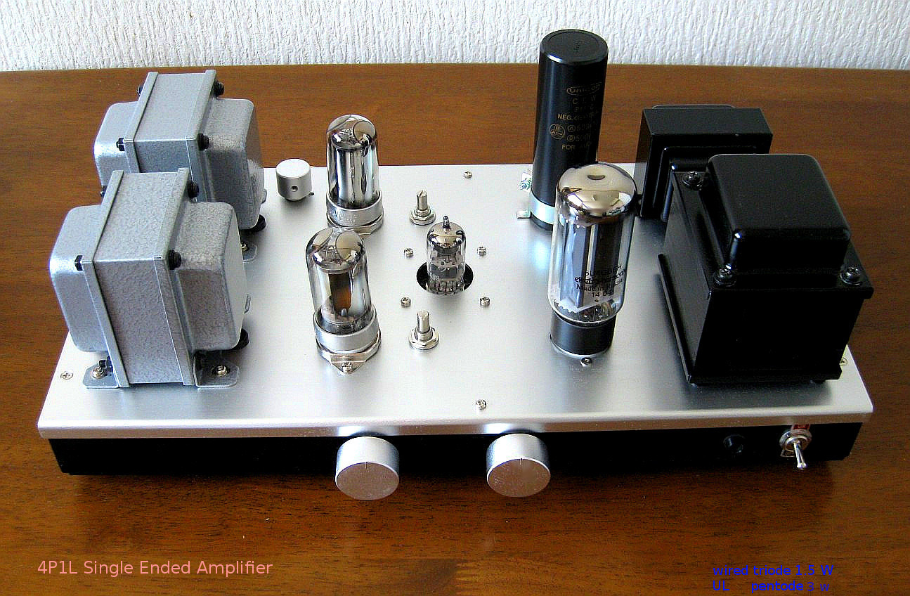 4P1L Single Ended Amplifier 2015