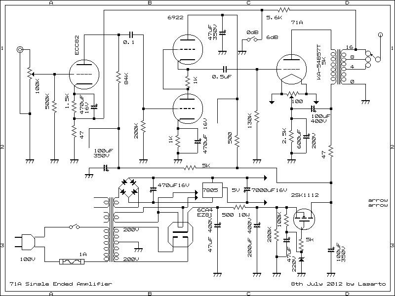 71A Single Ended Amplifier DIY