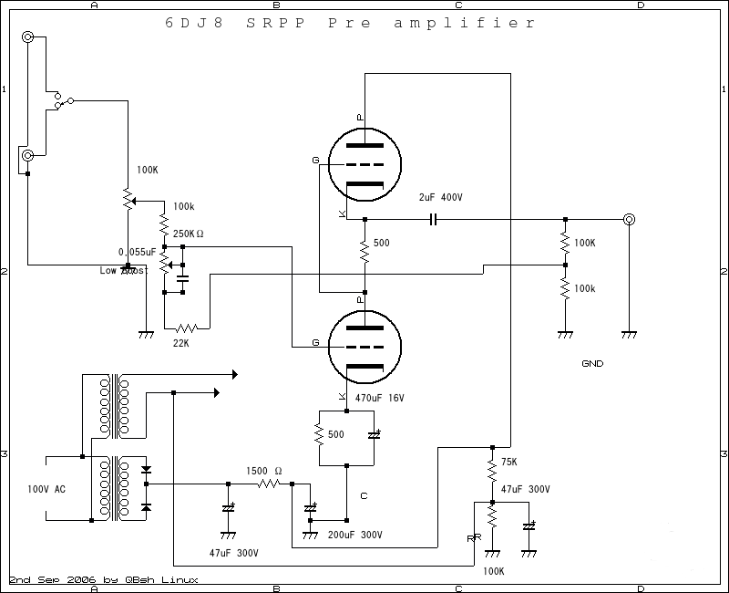 sakura amplifier schematic diagram  | single-ended.com