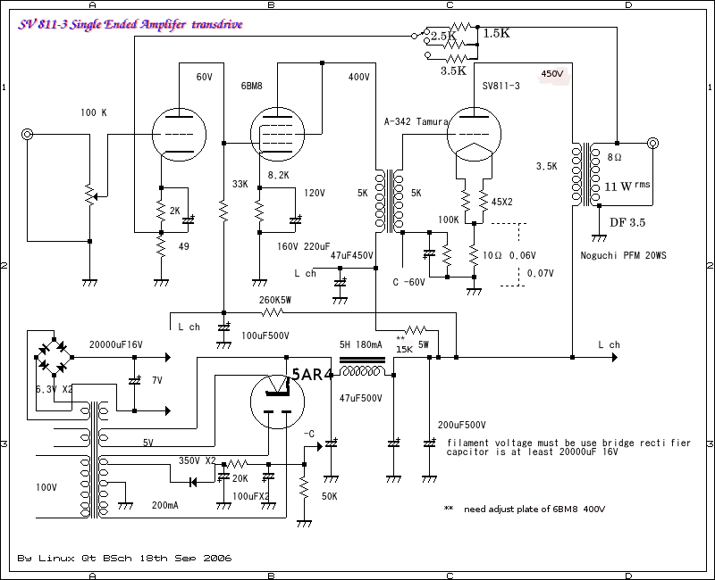 How about SV811-3 Single Ended Amplifier D I Y