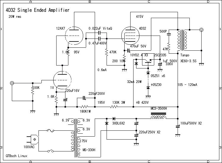 D on Tube Amplifier Schematics