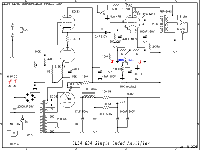 6550  kt88  el34 single ended amplifier