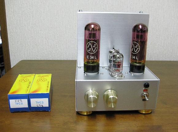 EL34(JJ E34L Red Tube)Mini Triode wired Single Ended Amplifier D I Y
