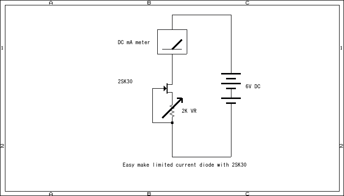 how to make limmited current diode